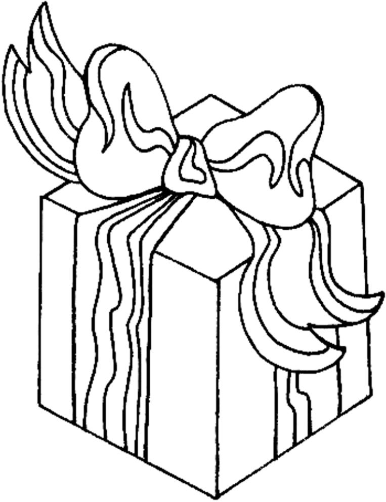 disegno di Pacco Regalo da colorare