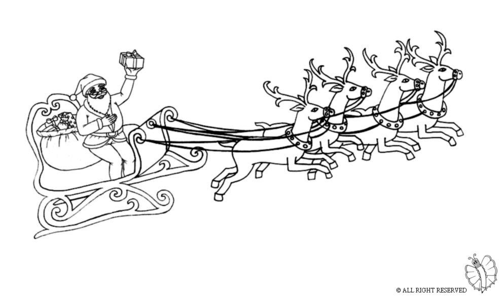 Stampa Disegno Di Slitta Con Babbo Natale Da Colorare