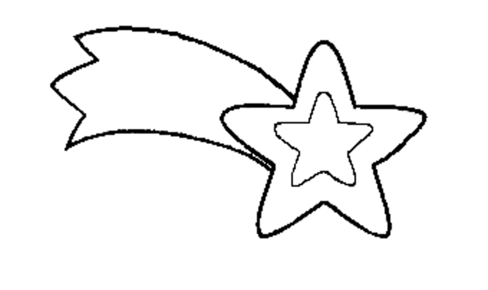 Stampa disegno di Stella di Natale da colorare