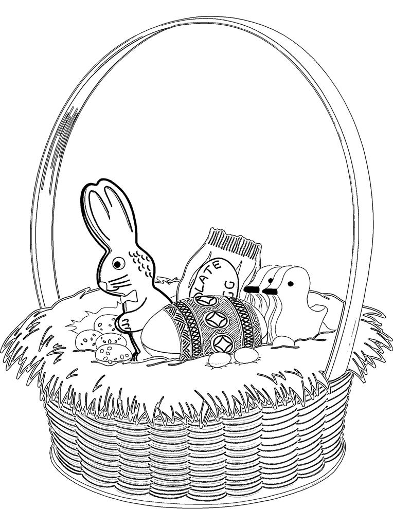 disegno di Cesto di Pasqua da colorare