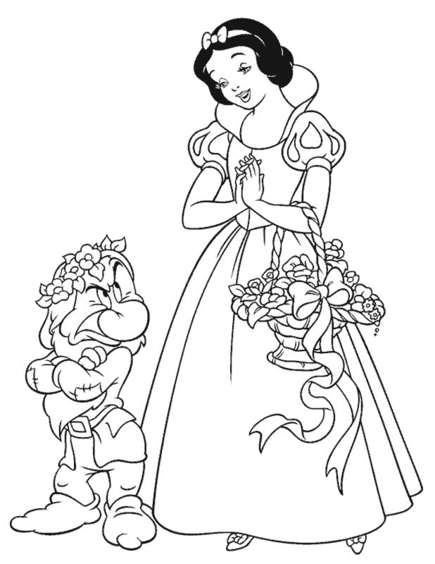 Stampa disegno di Biancaneve da