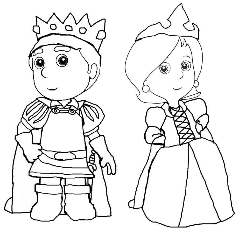 disegno di Il Principe e la Principessa da colorare