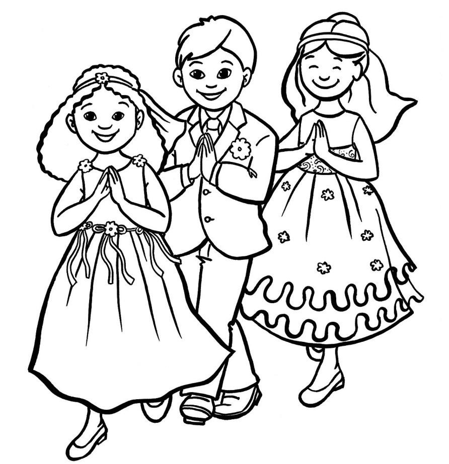 Stampa disegno di prima comunione da colorare for Costruzione di disegni online