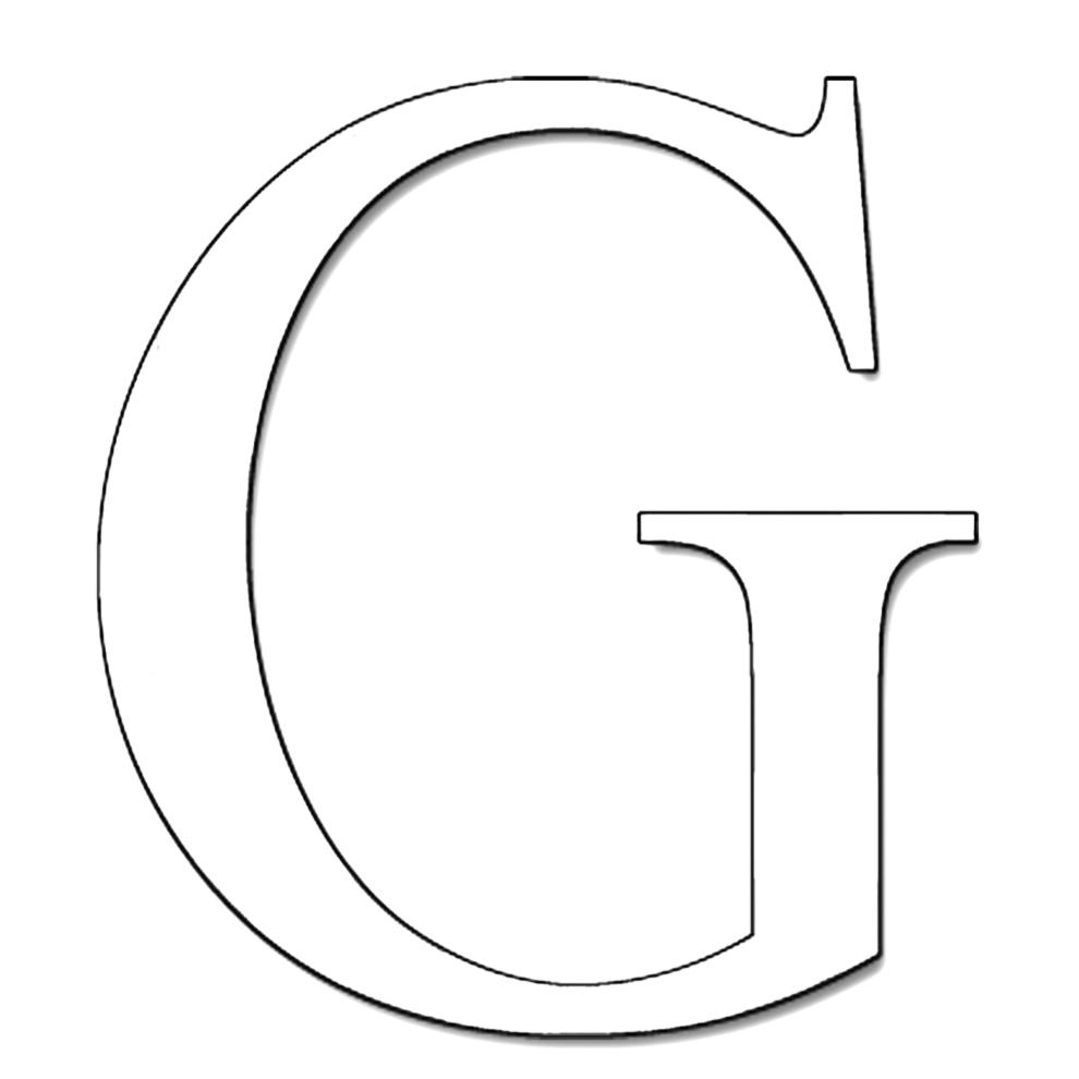 disegno di Lettera G da colorare