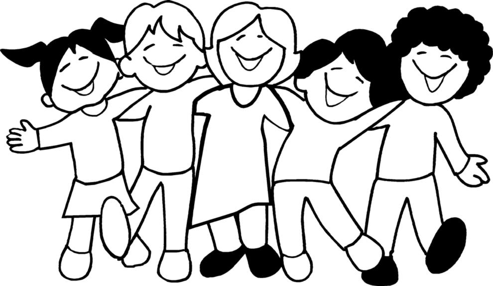 disegno di Bambini a Scuola da colorare