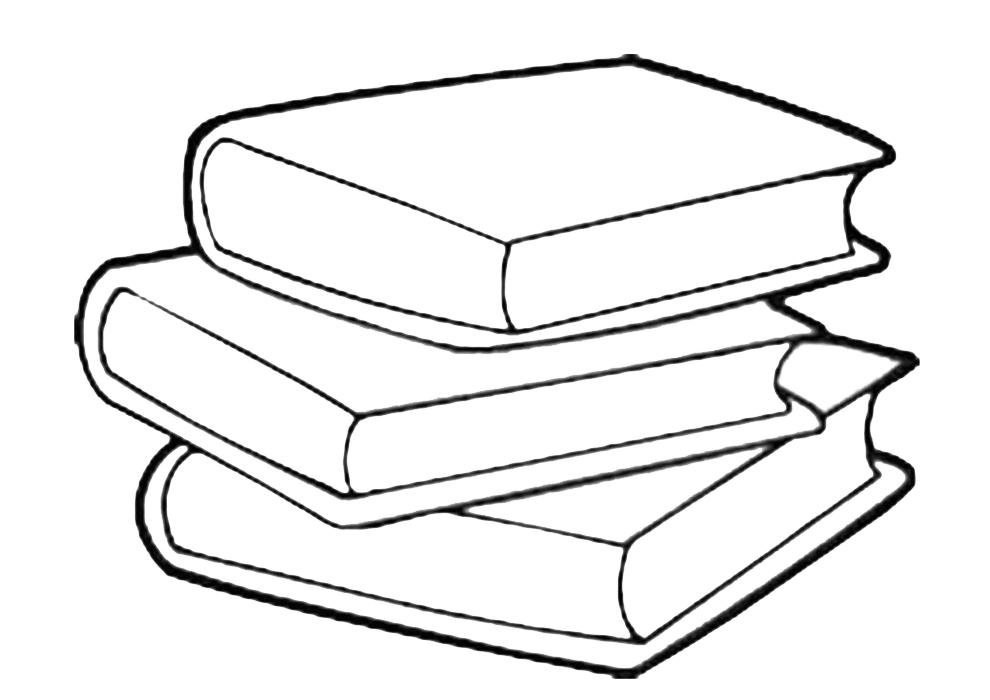 stampa disegno di libri scolastici da colorare
