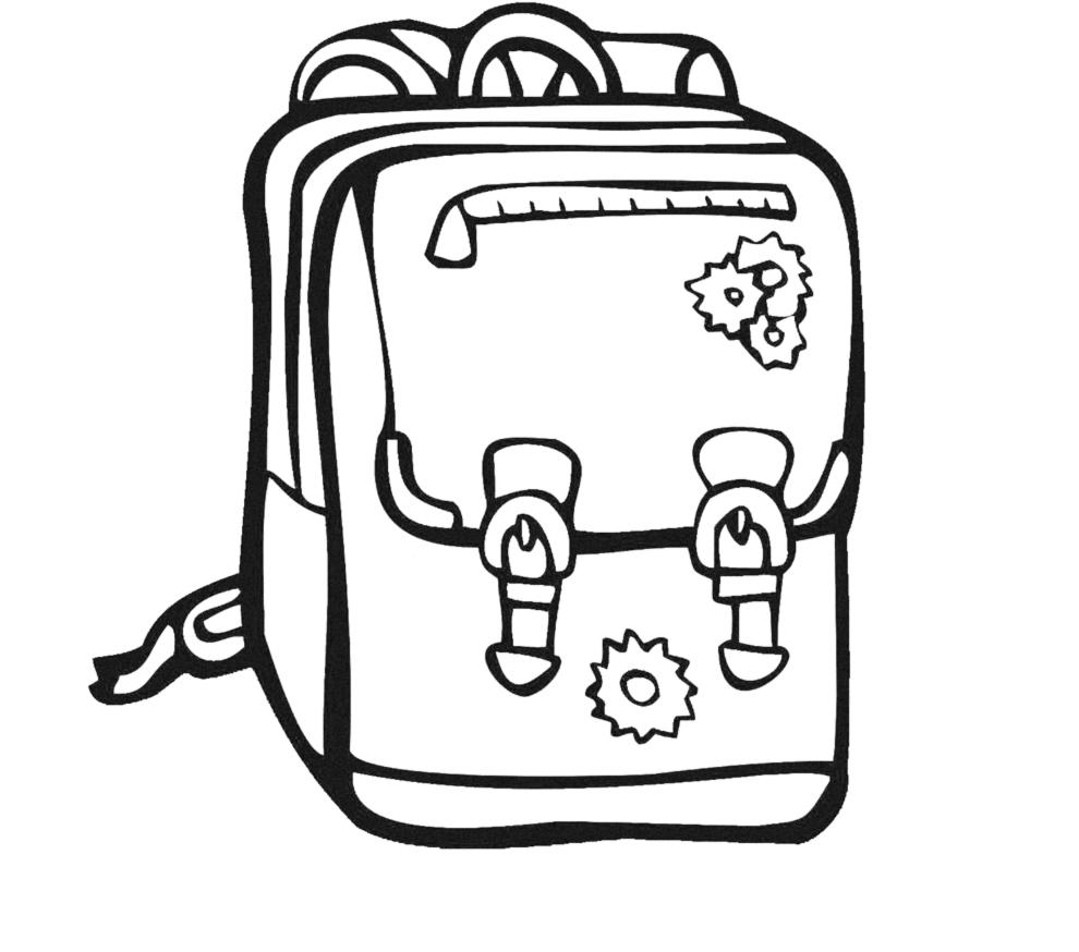 Stampa disegno di zainetto per scuola da colorare - Torna a scuola da colorare ...