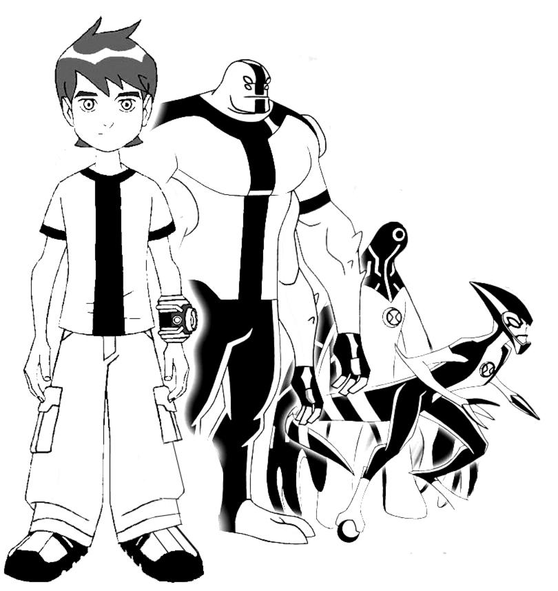 Stampa disegno di ben 10 cartoon da colorare for Ben 10 immagini da colorare
