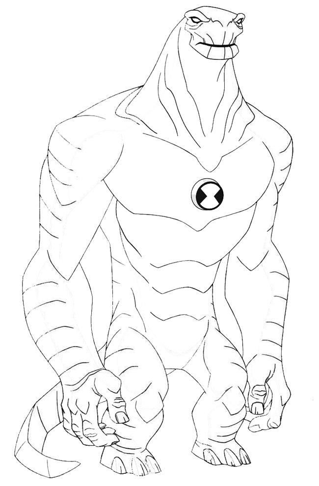 disegno di Humangosaur Ben Ten da colorare