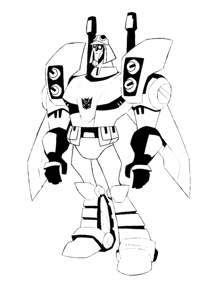 disegno di Blitzwing Transformers da colorare