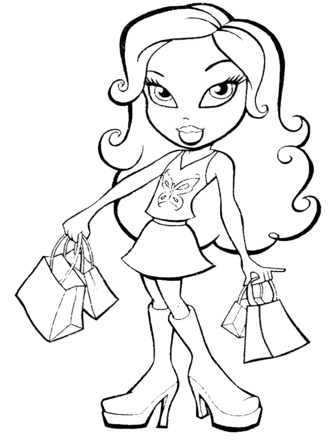 bratzillaz coloring pages online - photo#6