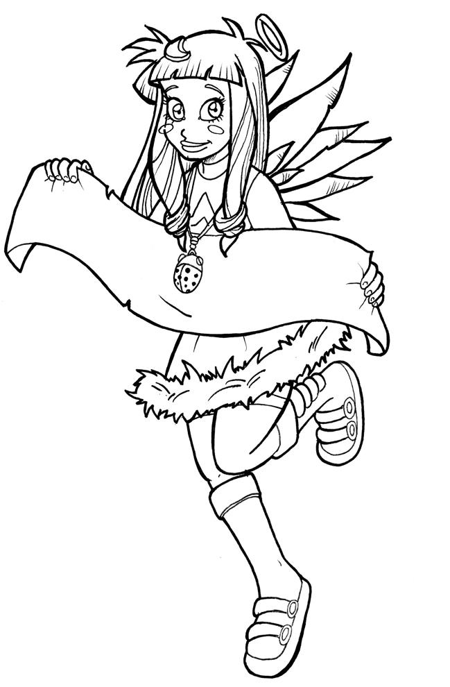Stampa disegno di angel friends da colorare for Disegni di angeli da stampare