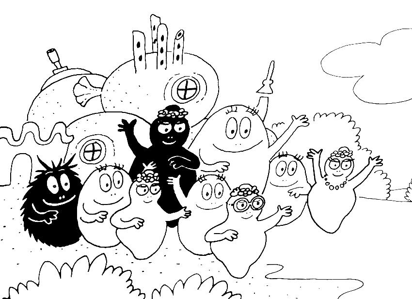 barbapapa cartone animato da colorare