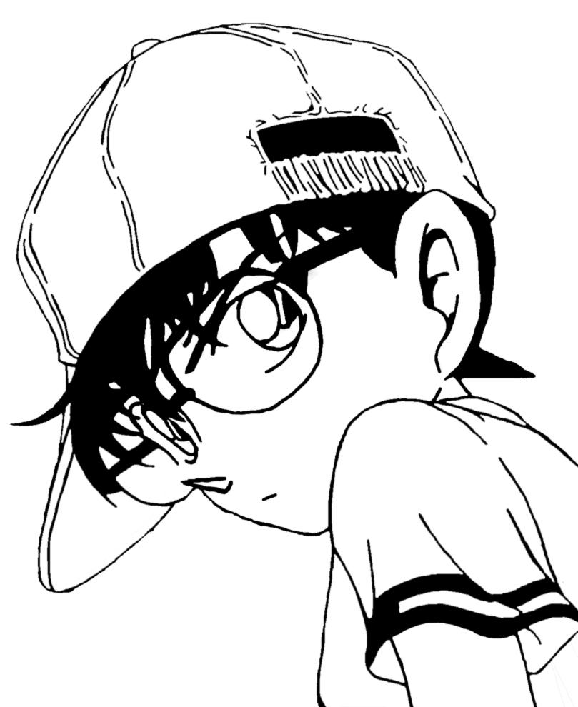 disegno di Detective Conan da colorare