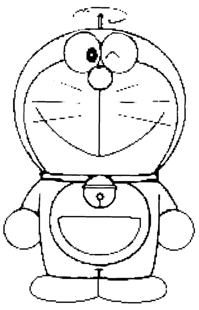Stampa disegno di doraemon da colorare for Doraemon immagini da colorare