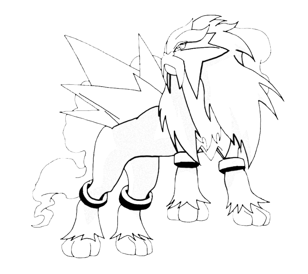 Entei Pokemon Coloring Pages Images Pokemon Images