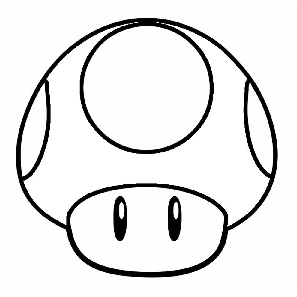 Stampa disegno di funghetto di super mario bros da colorare for Disegni mario bros da colorare