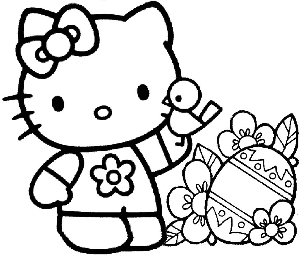 Stampa Disegno Di Hello Kitty Pasqua Da Colorare