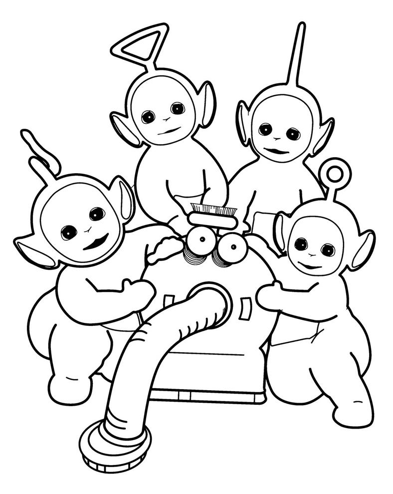 Stampa disegno di i teletubbies da colorare for Spongebob da disegnare
