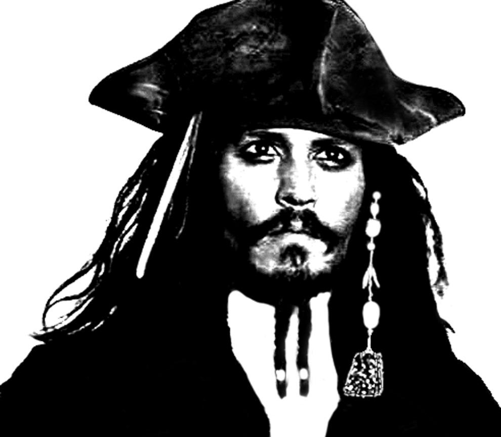 Stampa disegno di johnny depp pirata dei caraibi da colorare for Disegni di case dei caraibi