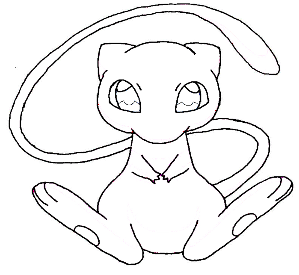 pokemon mew coloring pages - mew 2 coloring sheet coloring pages