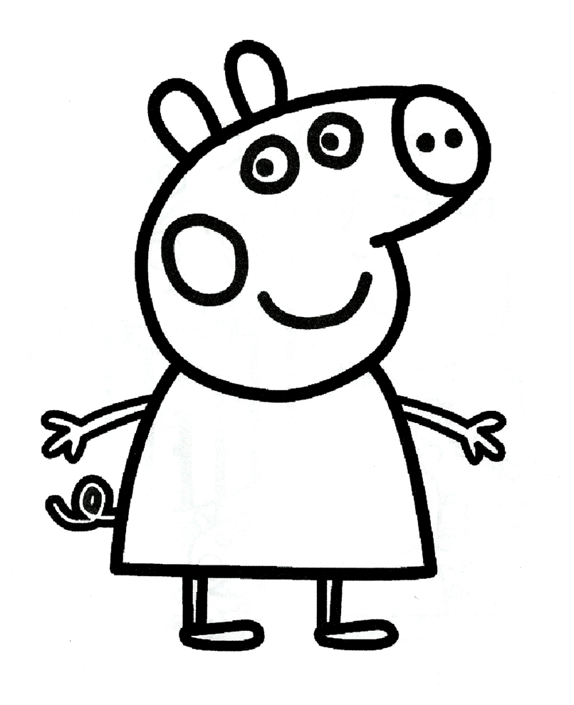 Stampa disegno di Peppa Pig da colorare