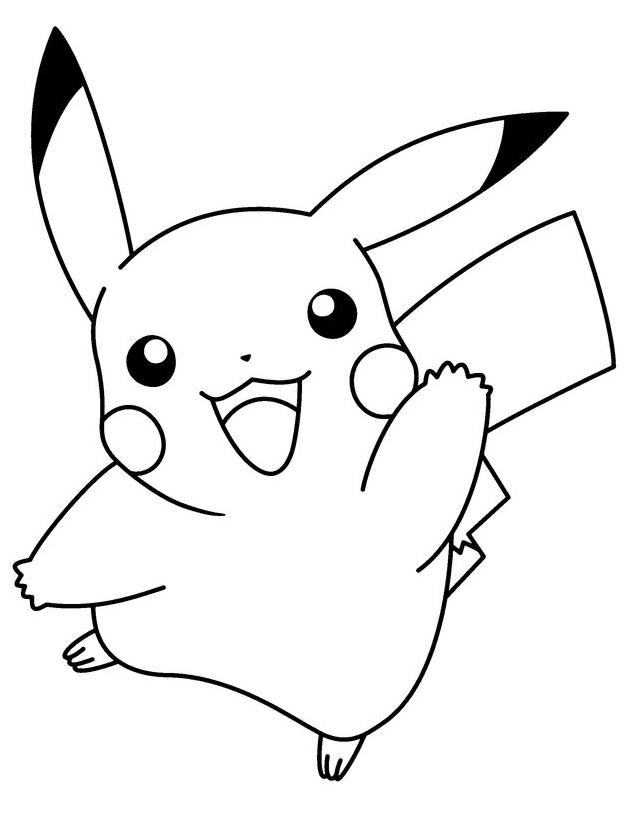 Stampa disegno di pikachu da colorare for Lepre immagini da stampare