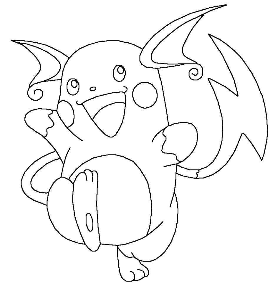 Raichu Pokemon Coloring Pages Printable