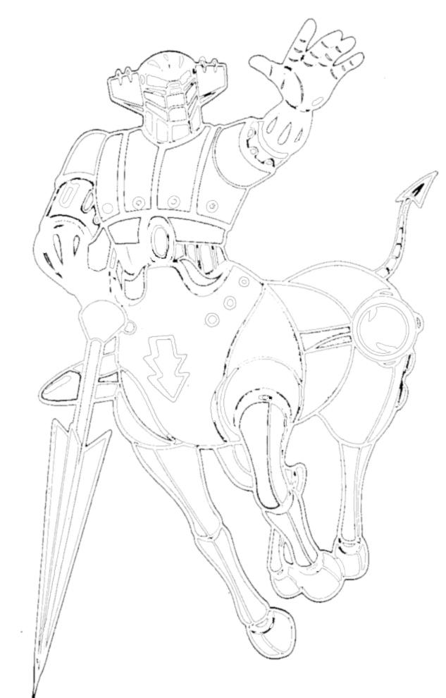 disegno di Gig Robot da colorare
