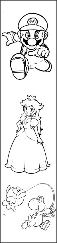 disegno di Segnalibro Mario Bros da colorare