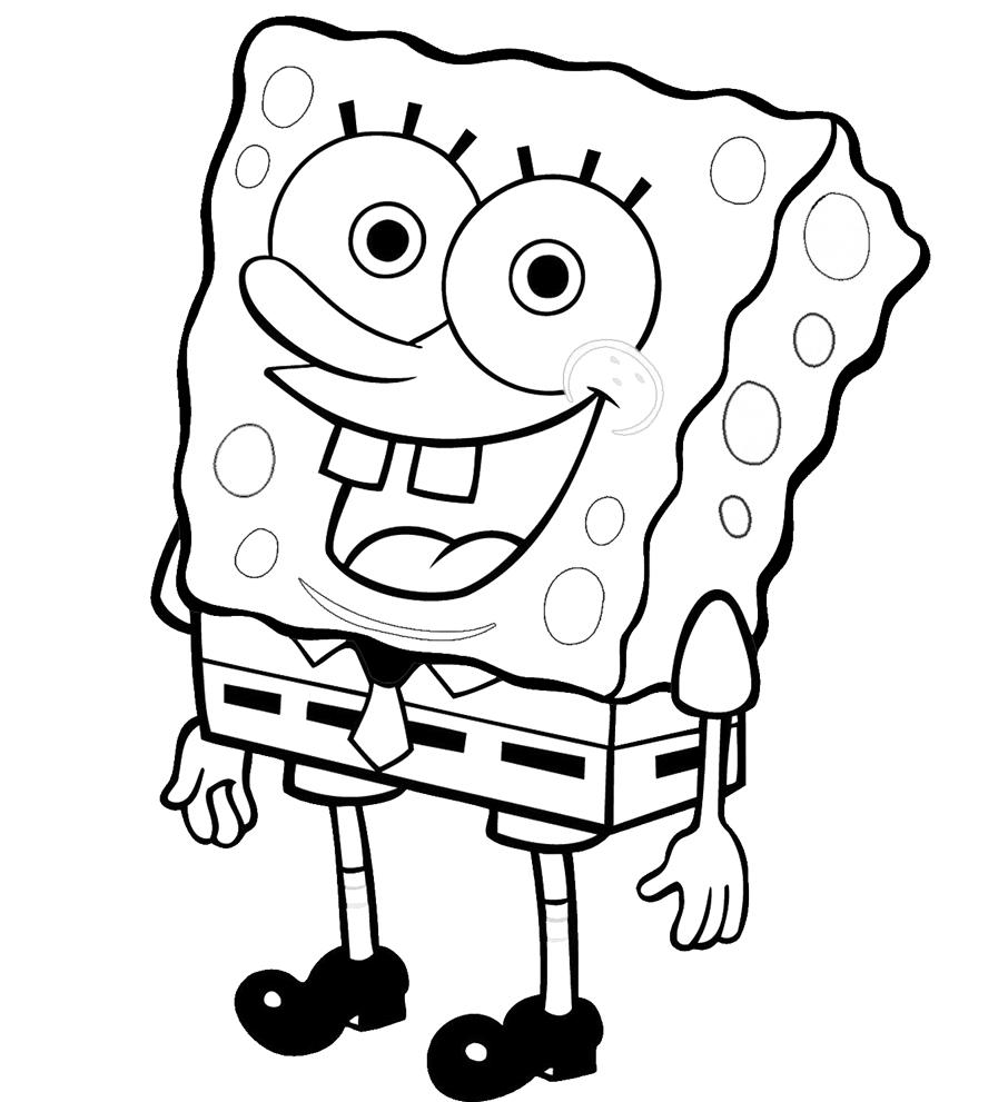 Stampa disegno di Spongebob da colorare