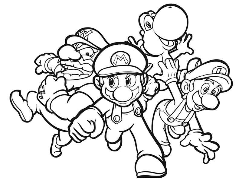 Stampa disegno di super mario da colorare for Disegni da colorare super mario bros