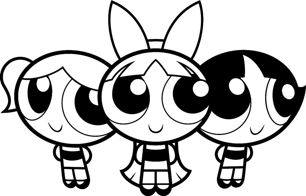 power puff girl coloring pages - photo#14