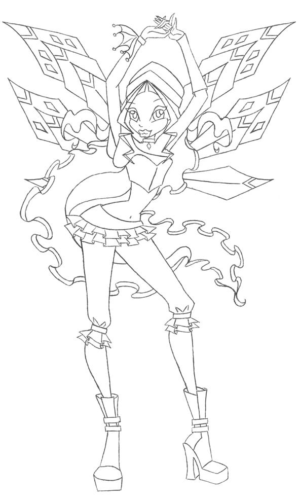 disegno di Winx Aisha da colorare