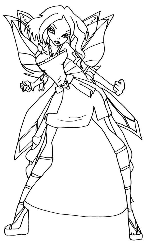 disegno di Winx Tecna da colorare
