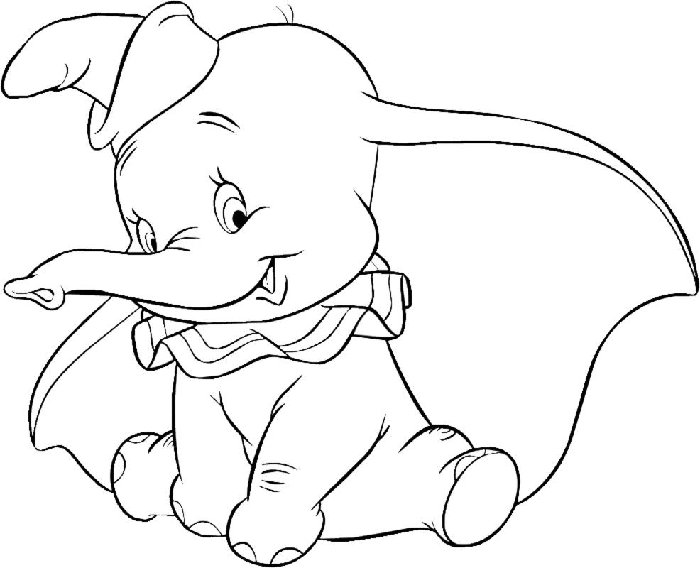 disegno di Dumbo da colorare