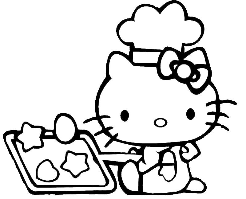 Disegni cucina disegno di hello kitty in cucina da for Disegni da colorare cucina