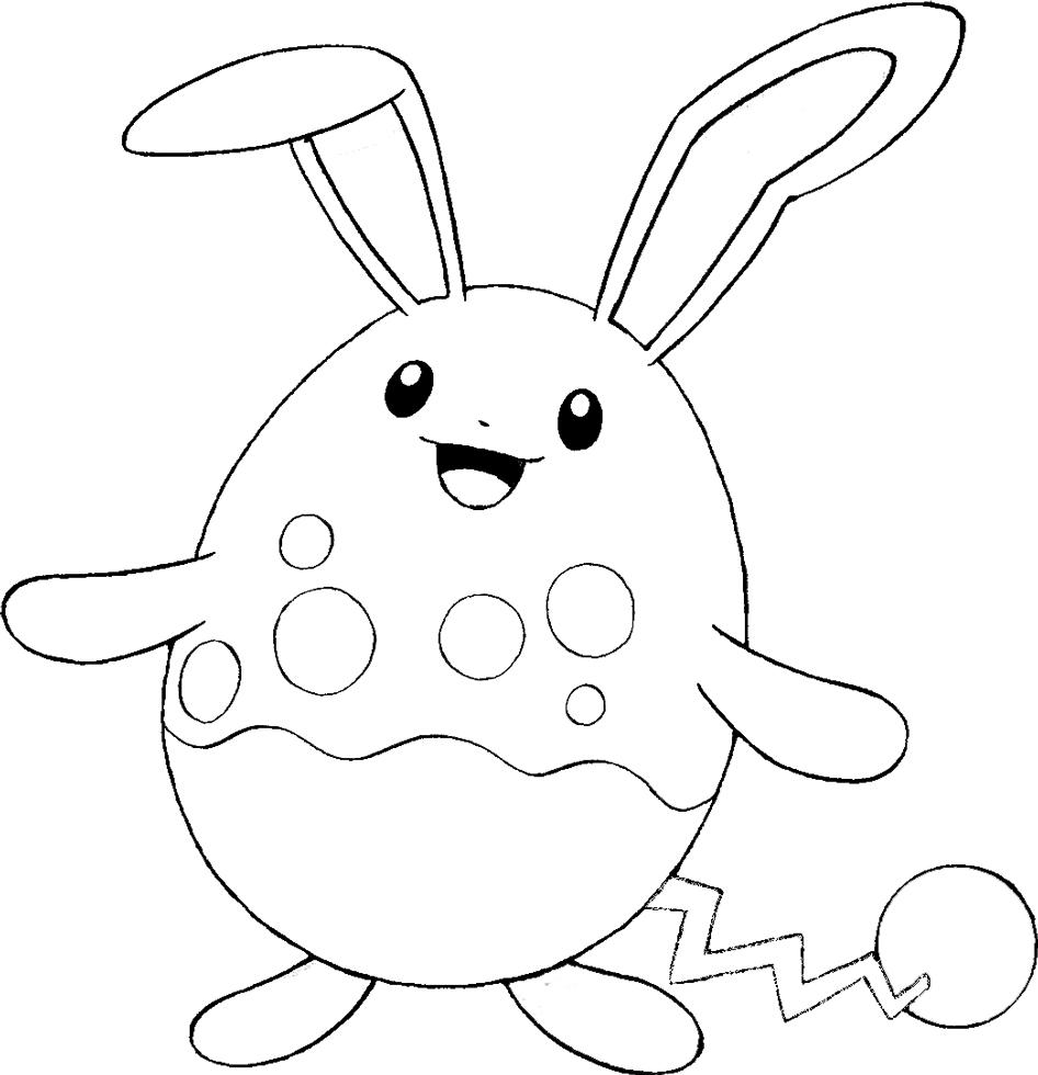 disegno di Pokemon Azumarill da colorare