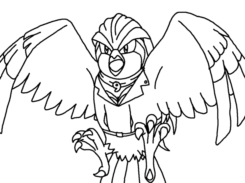 pidgeot pokemon coloring pages - photo#25