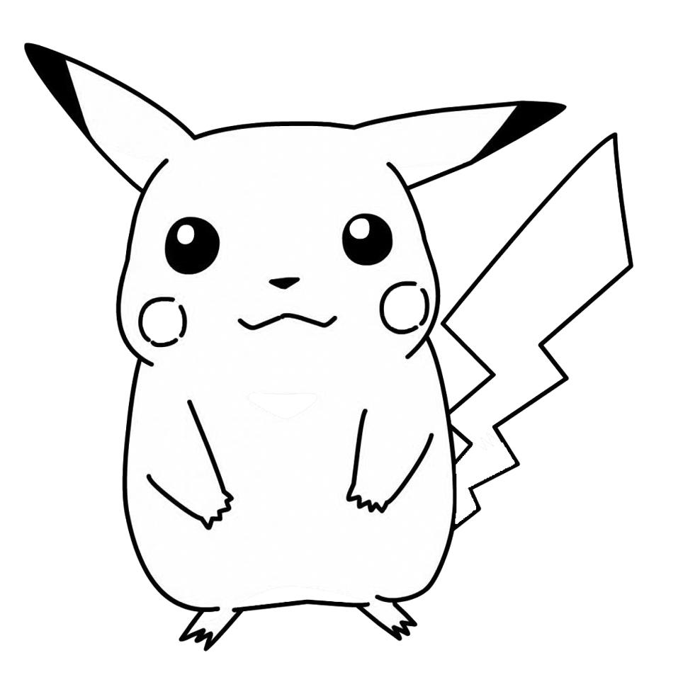 Stampa disegno di Pokemon Pikachu da colorare
