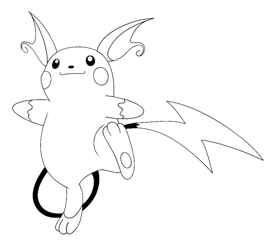 Stampa Disegno Di Pokemon Raichu Da Colorare