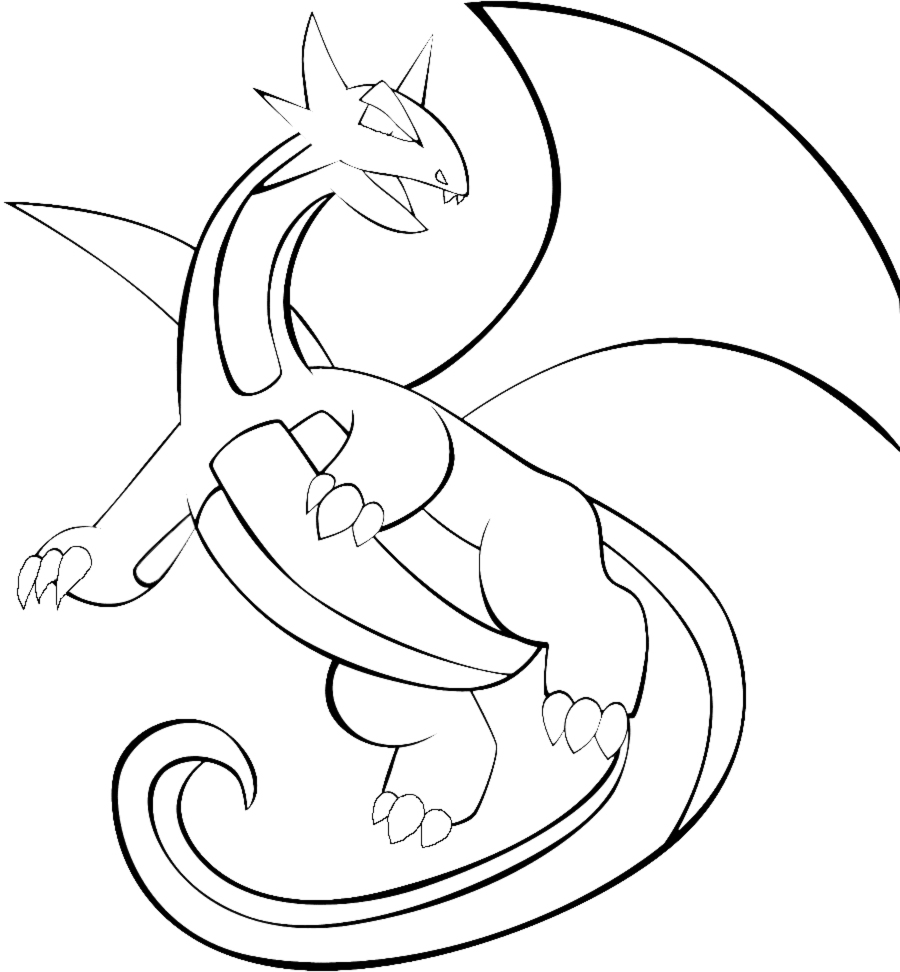 Pokemon coloring pages salamence - Pokemon Coloring Pages Flygon