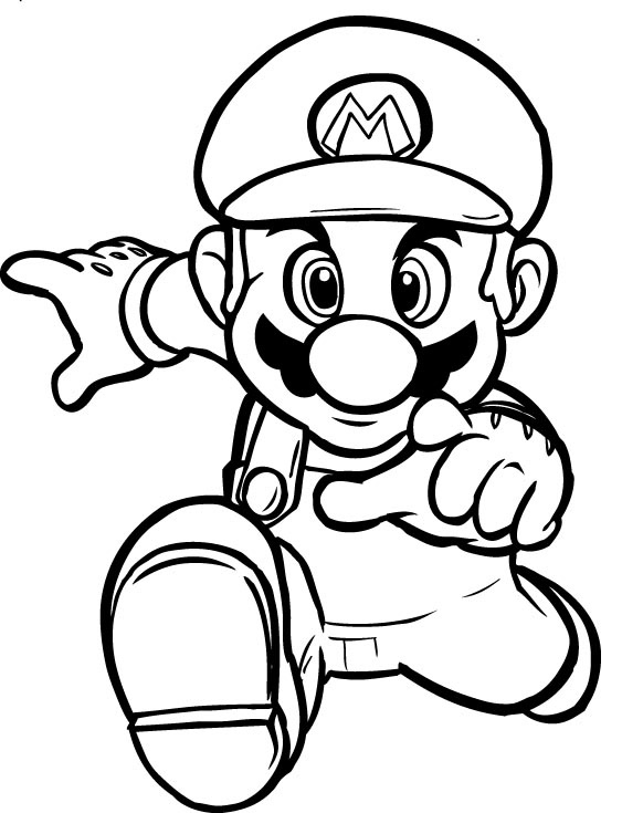 Stampa disegno di super mario bros da colorare for Disegni da colorare super mario bros