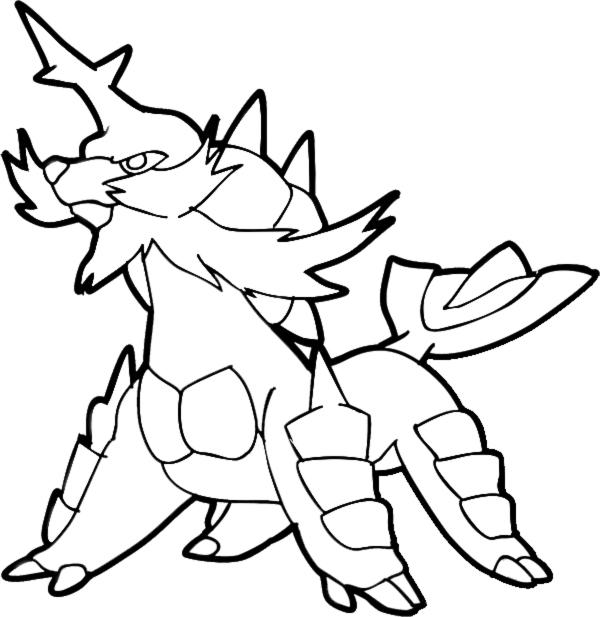 Disegni Da Colorare Di Pokemon Nero E Bianco.Stampa Disegno Di Pokemon Samurott Da Colorare
