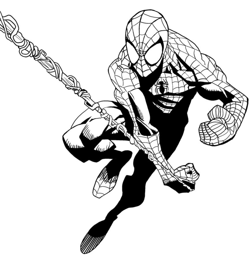 Stampa disegno di spiderman l 39 uomo ragno da colorare for Immagini da colorare spiderman