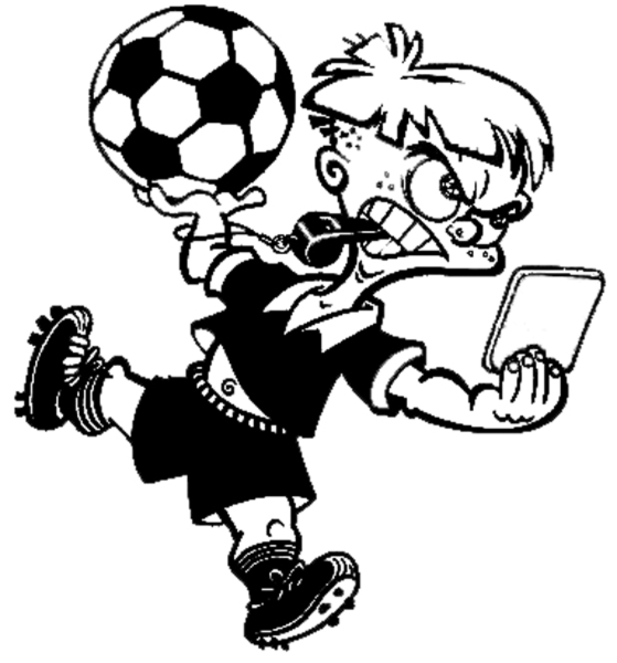 disegno di Arbitro di Calcio da colorare