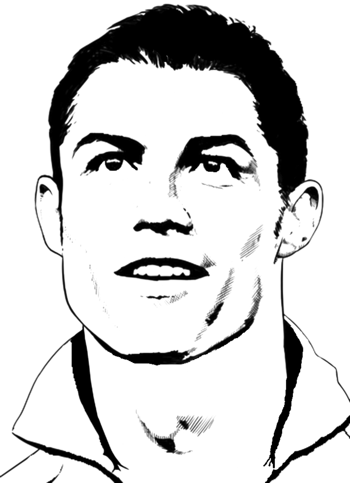 stampa disegno di cristiano ronaldo da colorare