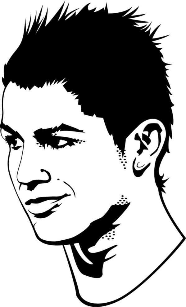 disegno di Cristiano Ronaldo da colorare