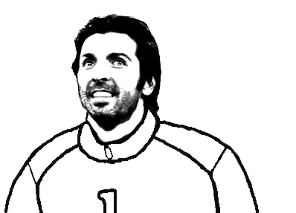 disegno di Gianluigi Buffon da colorare