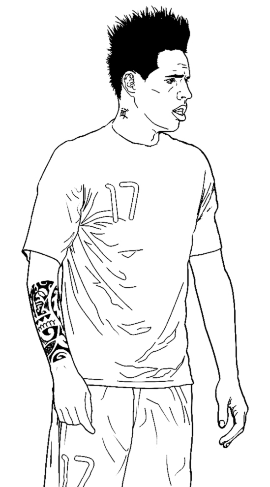 Stampa disegno di marek hamsik da colorare for Disegni sport da colorare